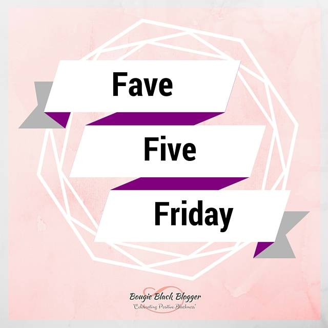 Fave Five Friday: Time for Fall