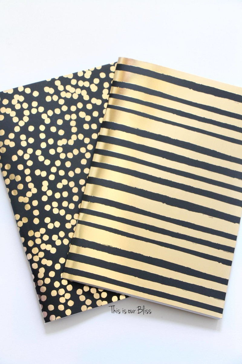2-pack-journals-black-gold-foil-polka-dot-journal-turned-art-guestroom-art-gallery-wall-this-is-our-bliss