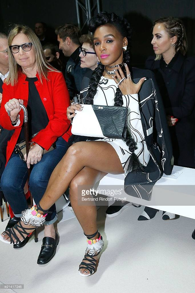 Janelle Monae Fashion Week Womenswear Spring/Summer 2016