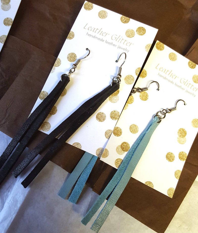 Leather Glitter, A Custom and Handmade Jewelry Business + GIVEAWAY